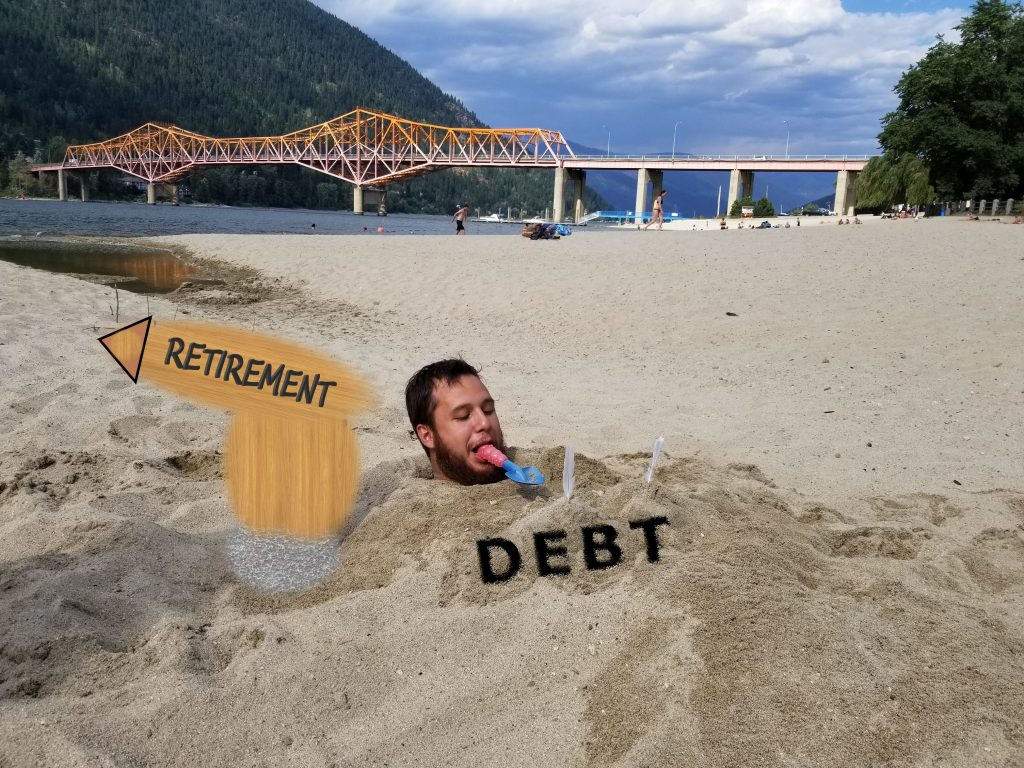 First we have to remove the debt holding us back, before heading to retirement